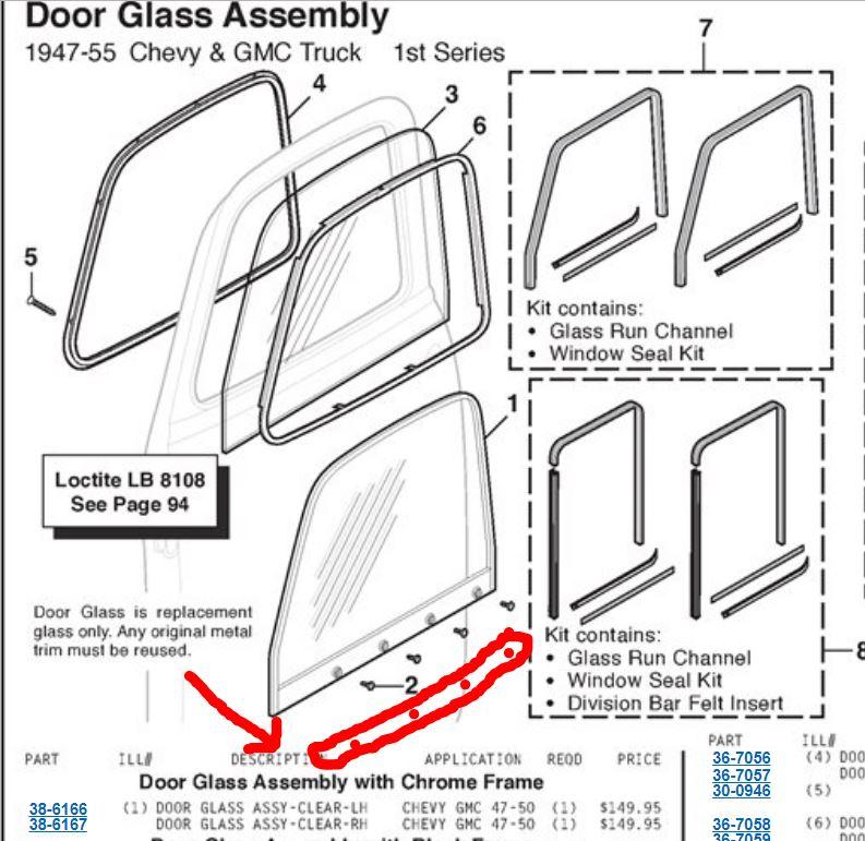 1950 Door Lower Window Track The 1947 Present Chevrolet Gmc Truck Message Board Network